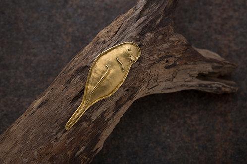 Bird 鳥 金工手工黃銅墜飾項圈 Brass pendant/necklace