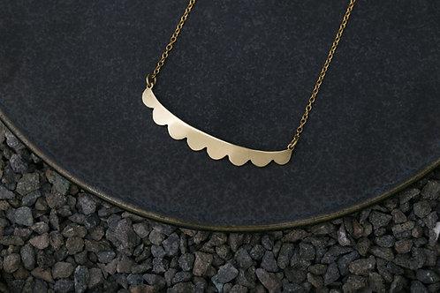 Misstache N.8 鬍子小姐 8 號 黃銅項鍊 Brass Necklace