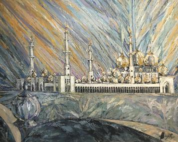 Nightfall at Sh Zayed Mosque