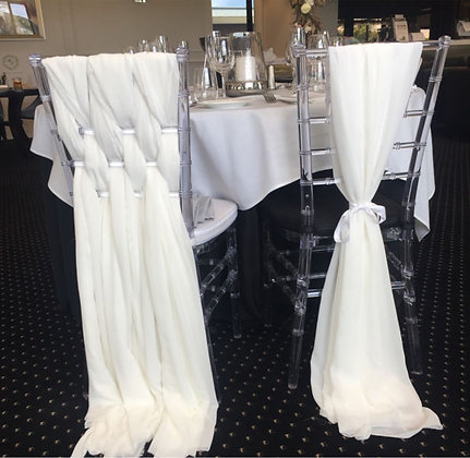 Chair chiffon sash decor