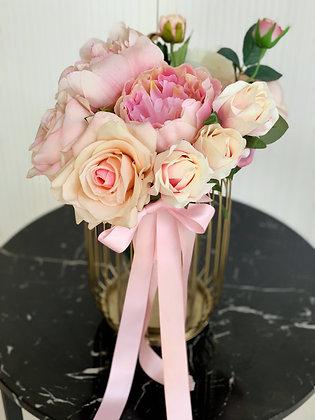 Pastel Pink Floral Vase