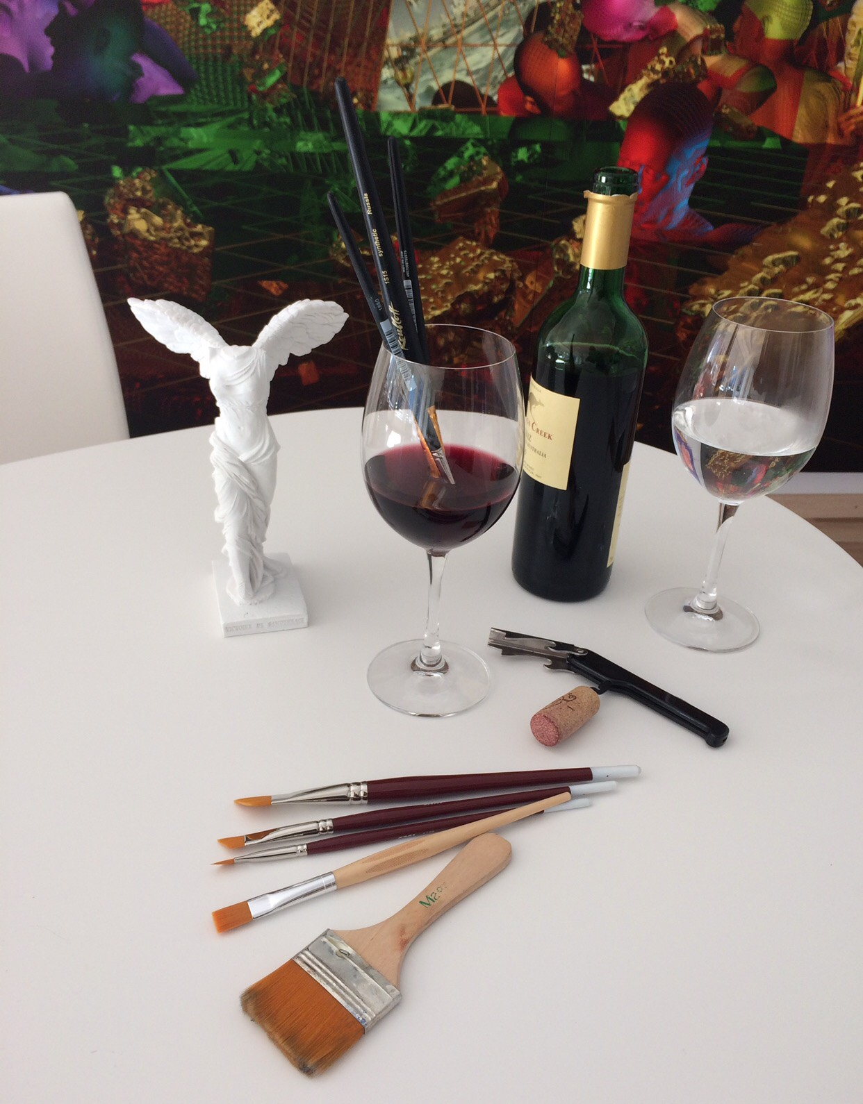 Wine+watercolore workshop