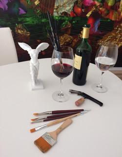 Wine+watercolore workshop