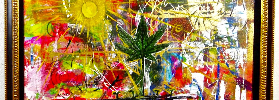 Planta Bendita. Mixed Media on Canvas.jp