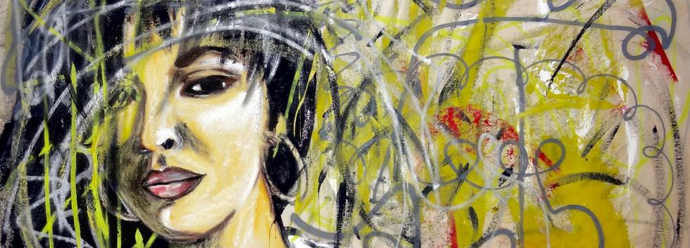Selena Tribute. Mixed Media on Canvas.