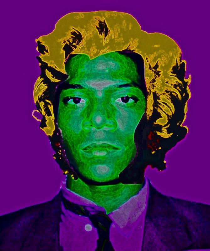 Basquiat Monroe Warhol Digital Collage.