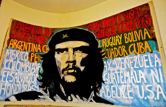 El Che Pancarta. Mixed Media on Canvas.