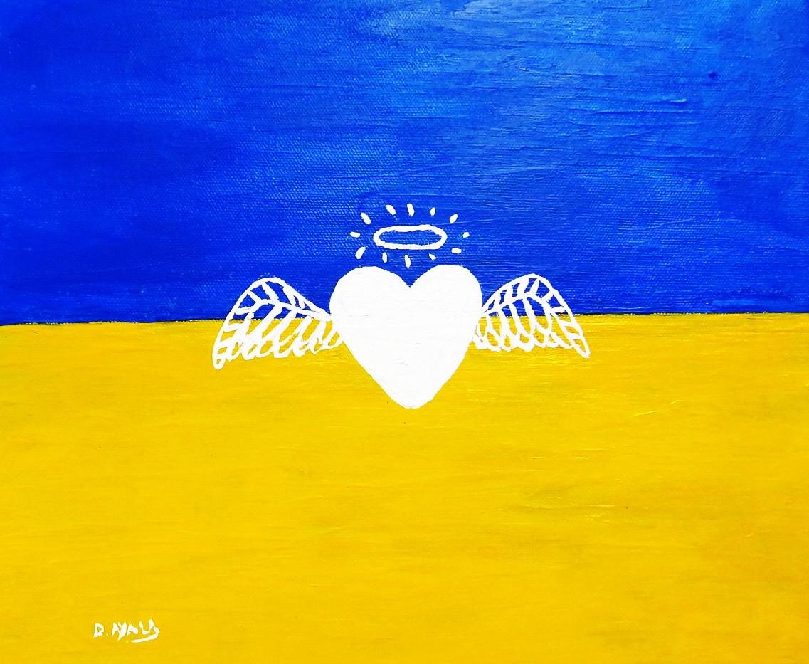 Paz para Ucrania. Acrylic on Canvas.