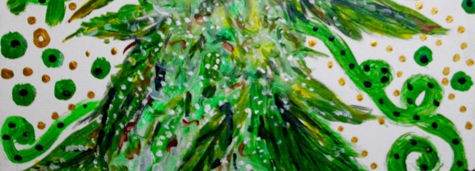 Cannabis Sativa 1. Acrylic on Canvas.