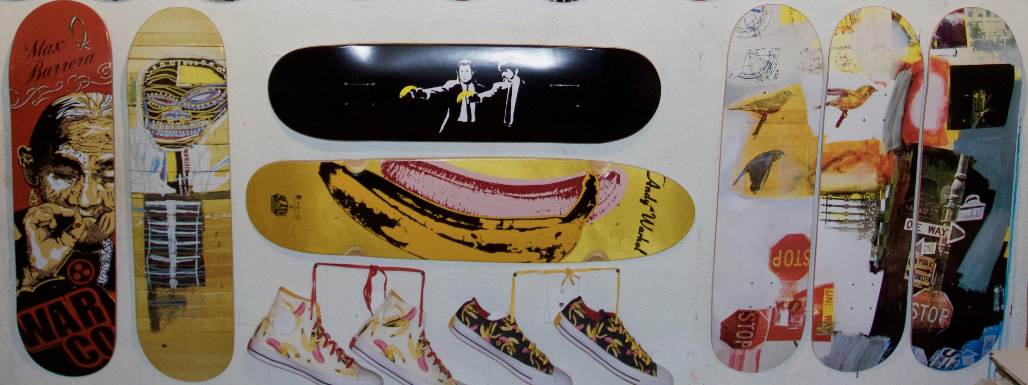 Banksy, Basquiat,Warhol,Rauschenberg,Maria Sabina