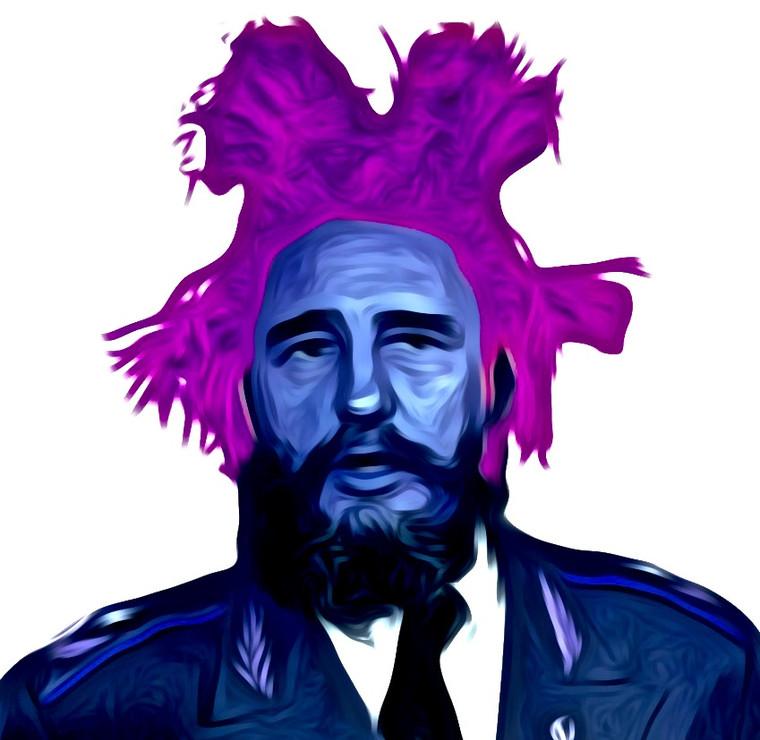 Fidel Basquiat Digital Collage.