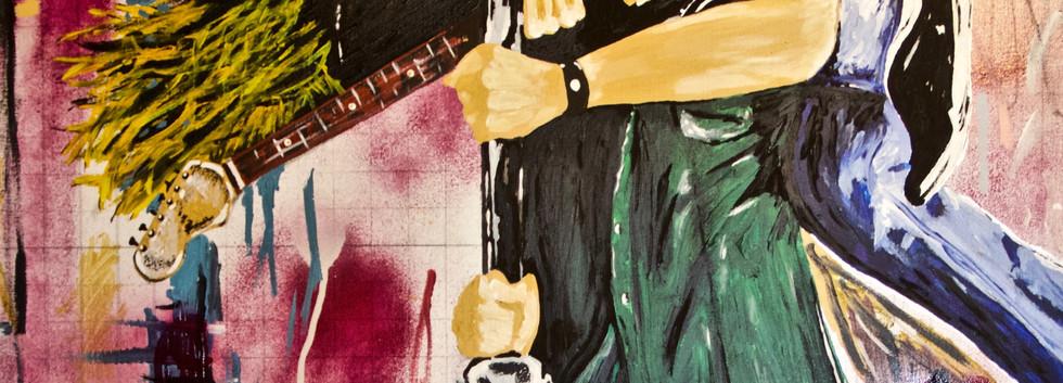 Kurt and Chris Rocking. Mixed Media on Canvas.