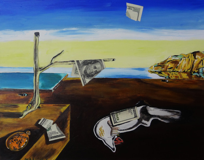 La Perscpcion del Dinero. Mixed Media on Canvas