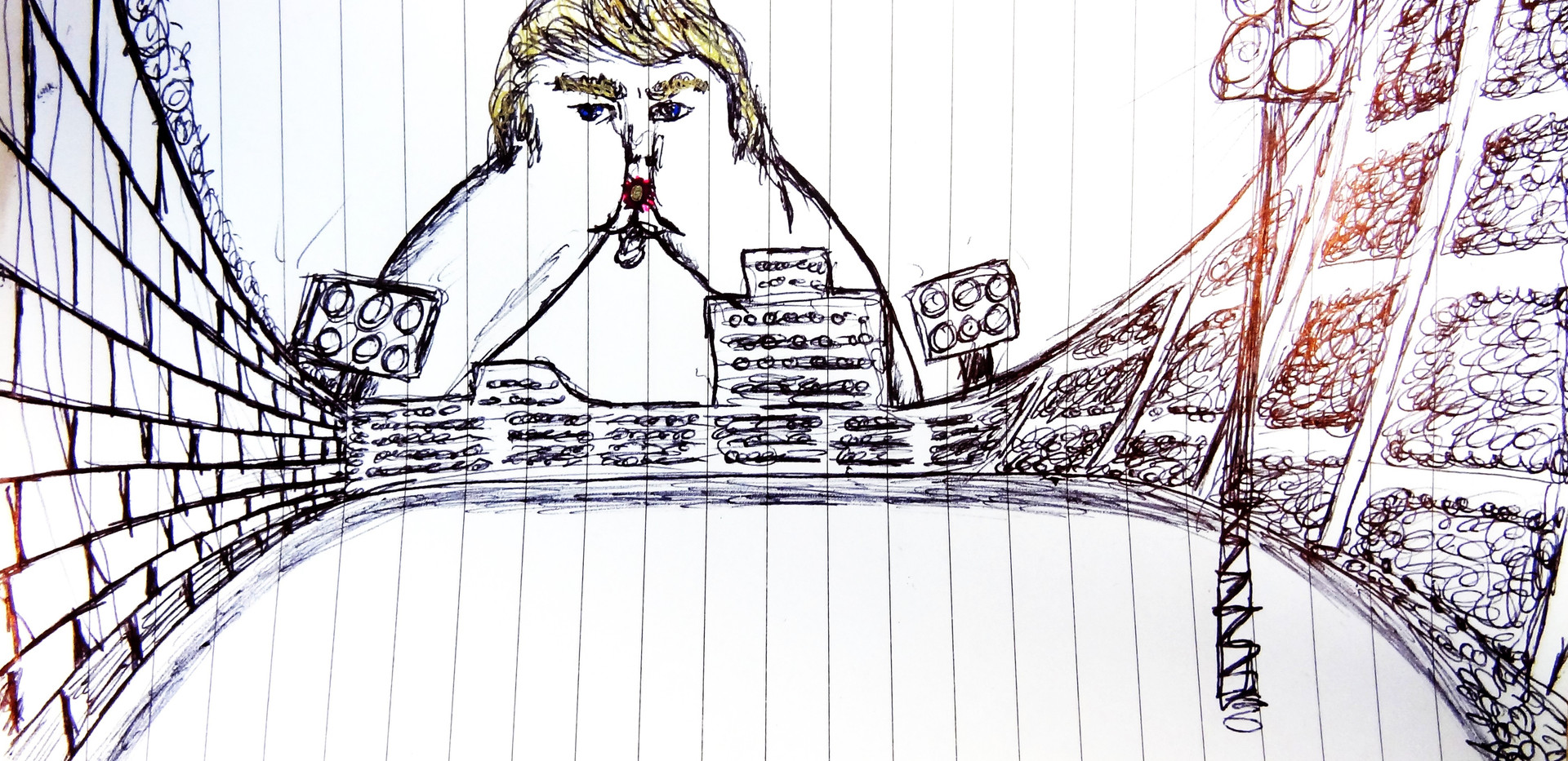 El Trumpudo. Ink on Paper.