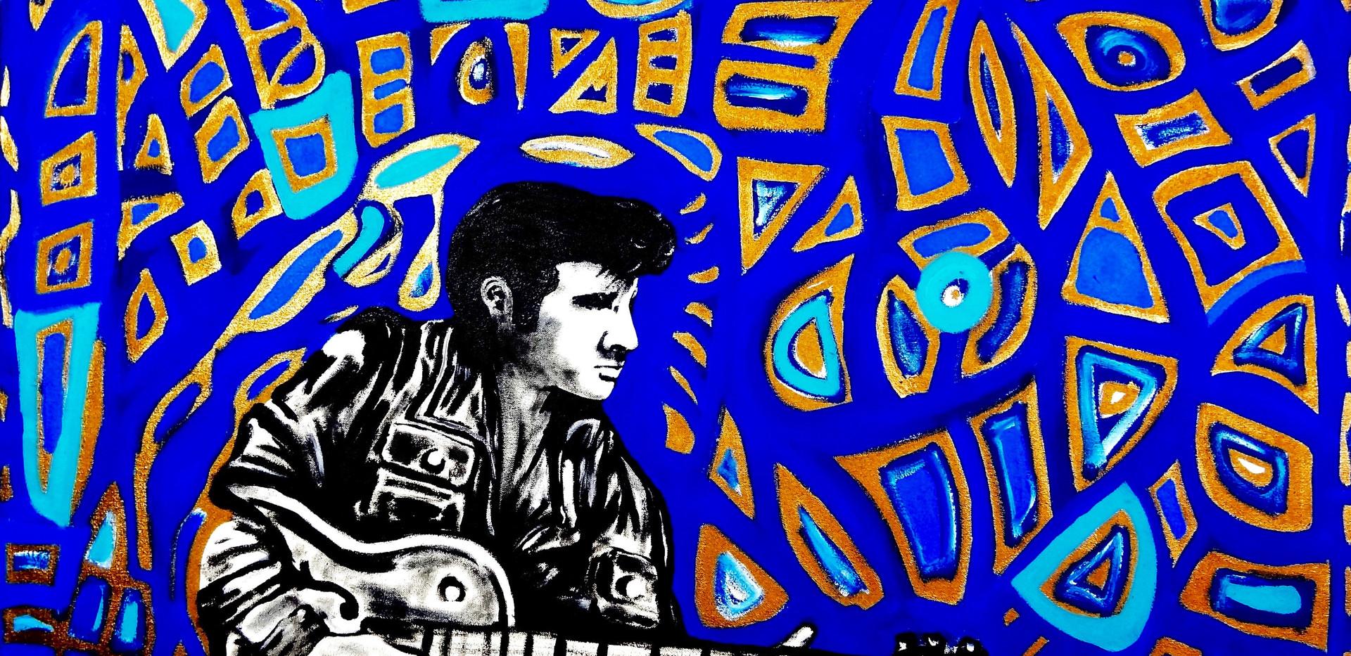 Elvis Presley. Acrylic on Canvas.