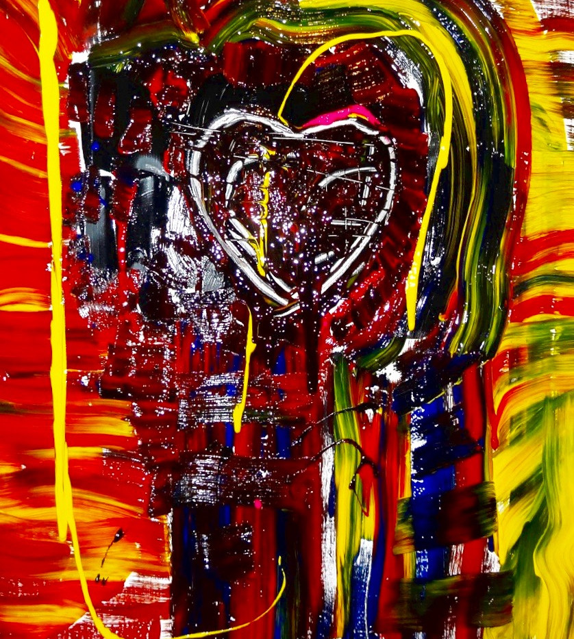 Love Expression 2. Mixed Media on Canvas.