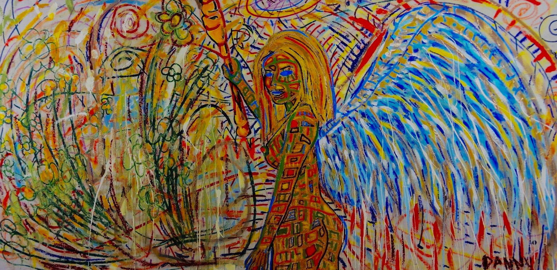Angel Mostrando el Camino. Mixed Media.
