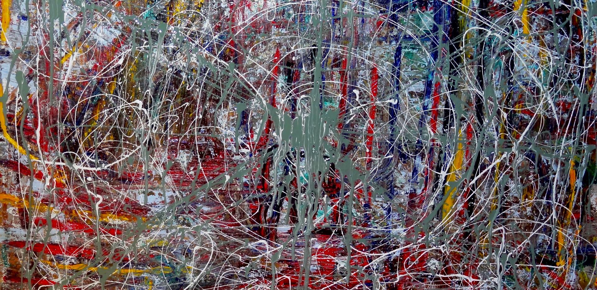 Tributo a Pollock. Mixed Media on Canvas