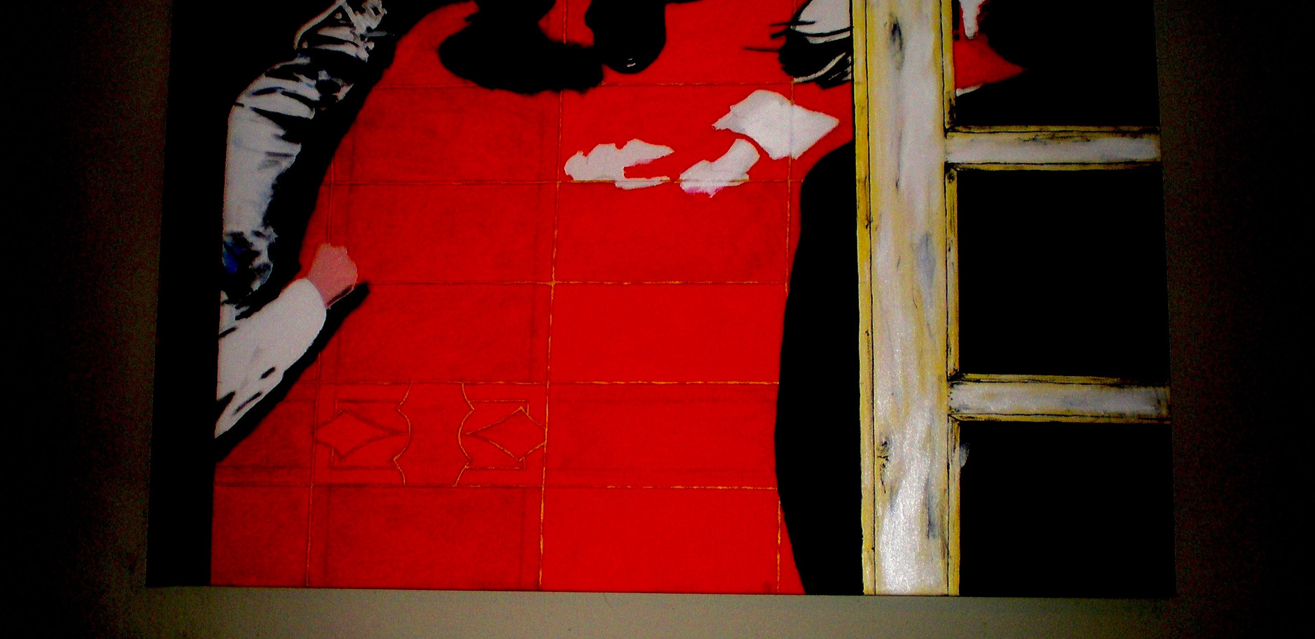 Asesinato de Cobain. Acrylic on Canvas.