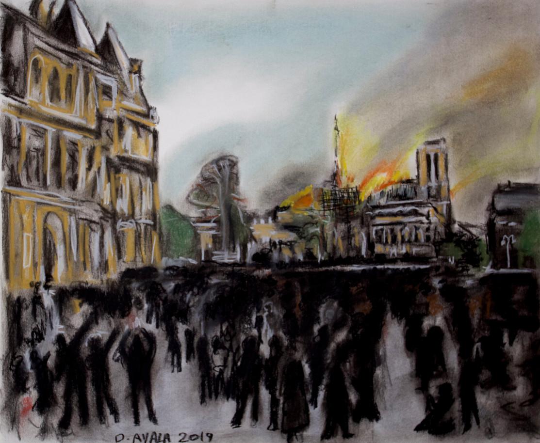 Notre Dame burning 2019
