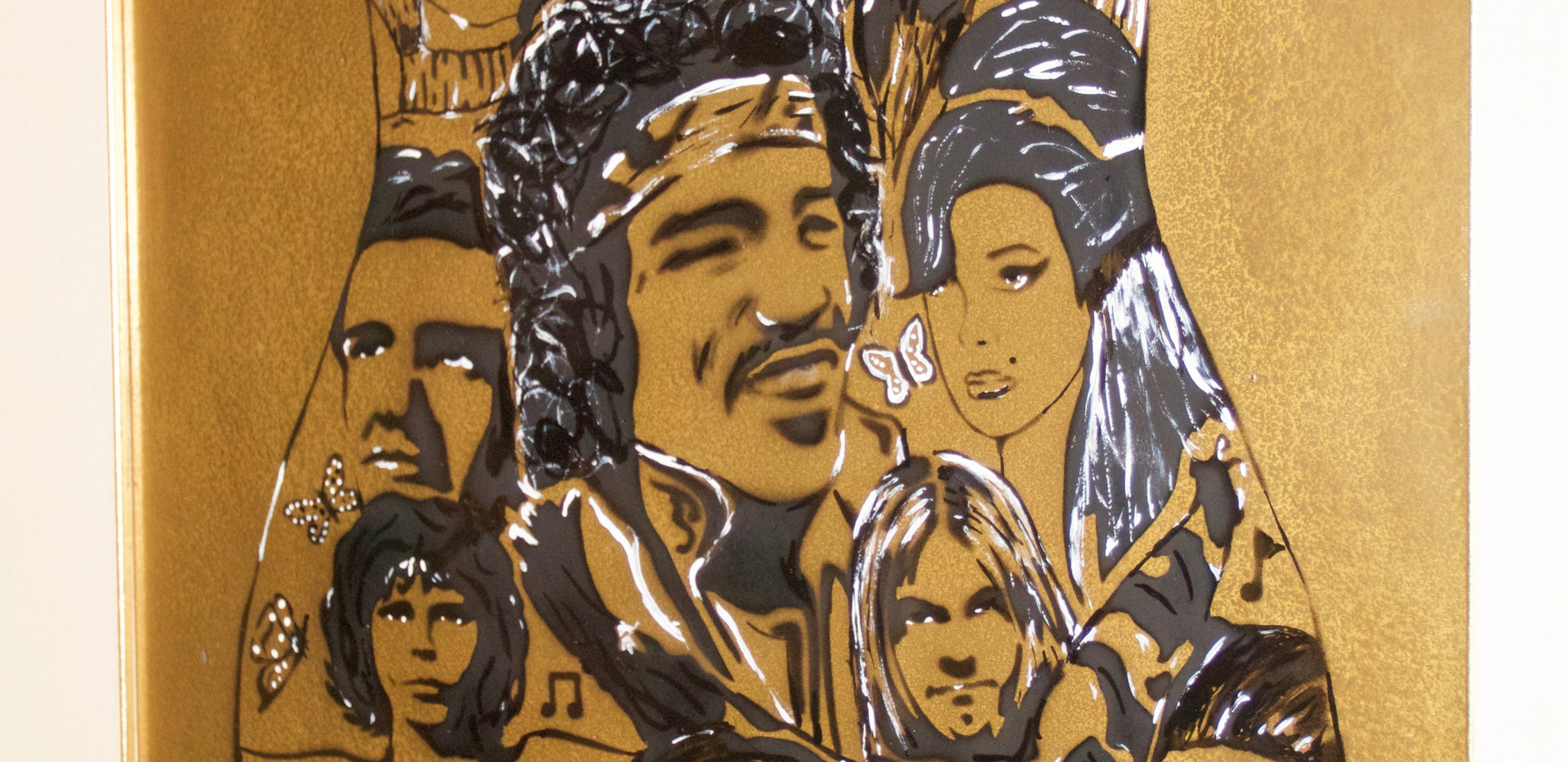 Artistas Muertos. Stencil on Paper.
