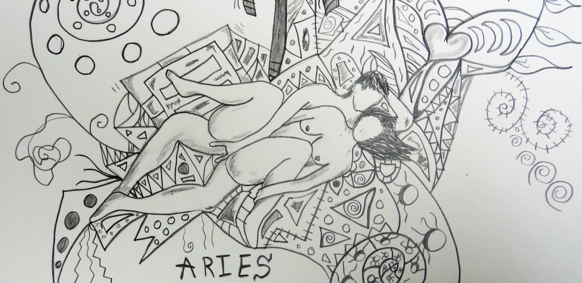 Aries. Pencil On Paper.