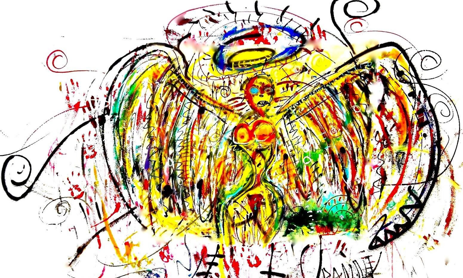 Angel de Basquiat. Mixed Media on Canvas.