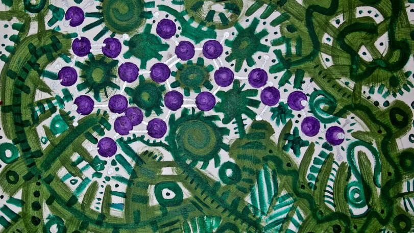 THC Molecula. Acrylic on Canvas.