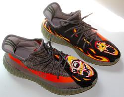Hand painted Adidas Yeezy!