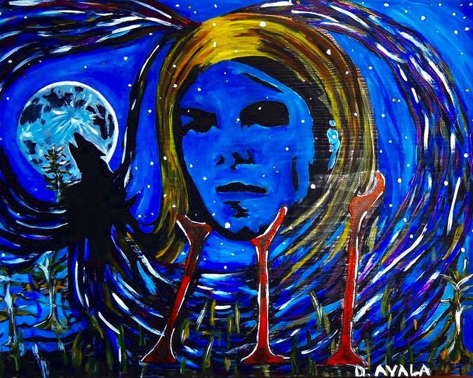Cobain. Acrylic on Wood.