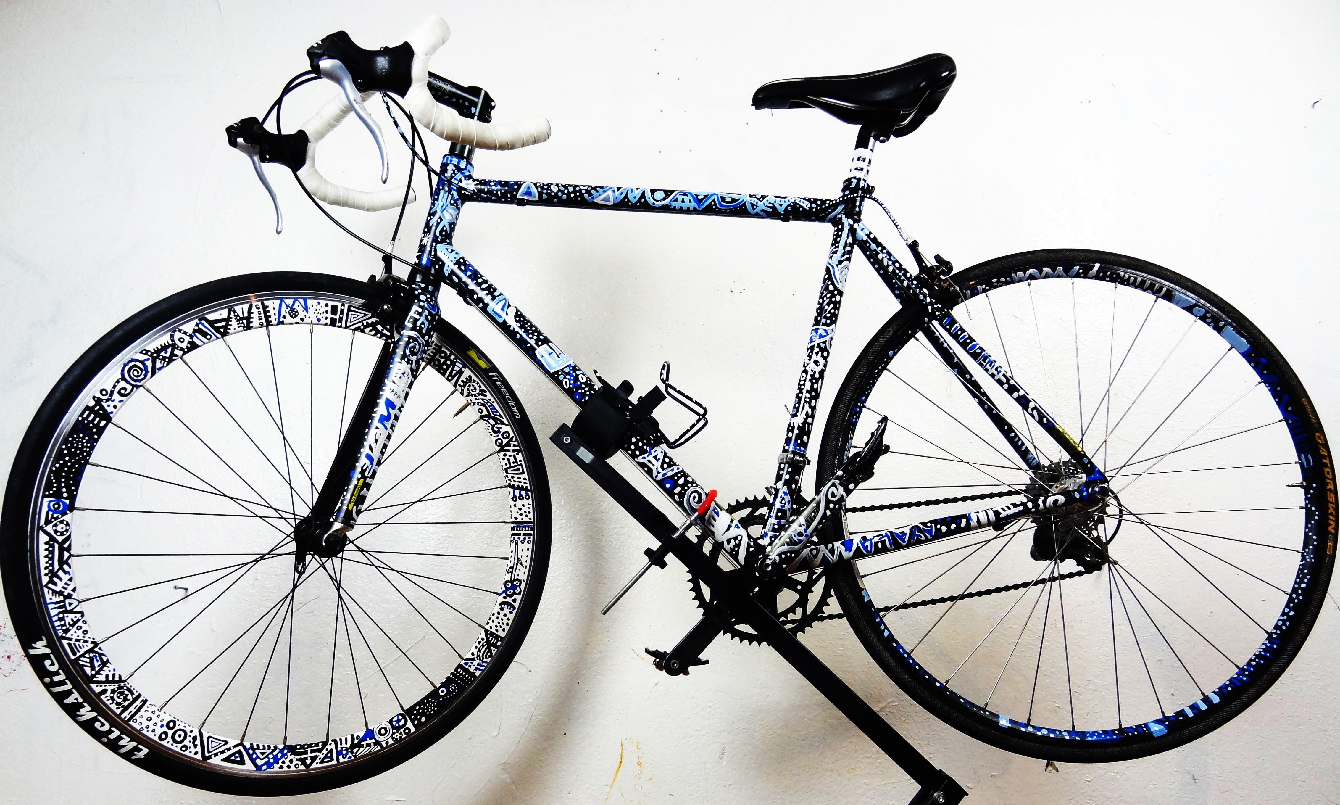 Bike Hand Painted