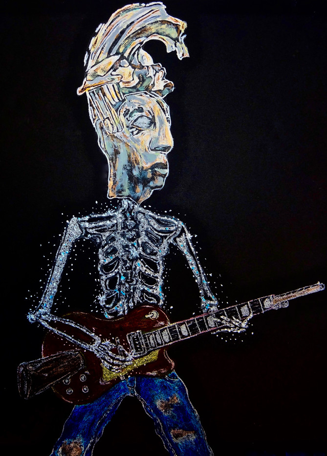Packal Rockero. Acrylic on Board.