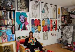 Andy Warhol at the studio