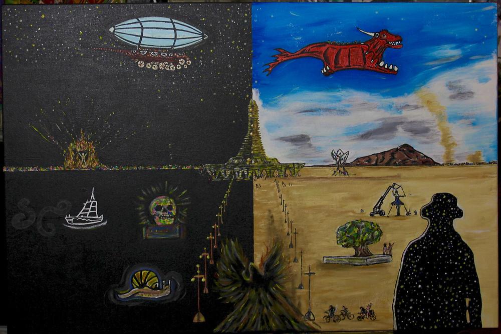 Burning man 2017 art tribute