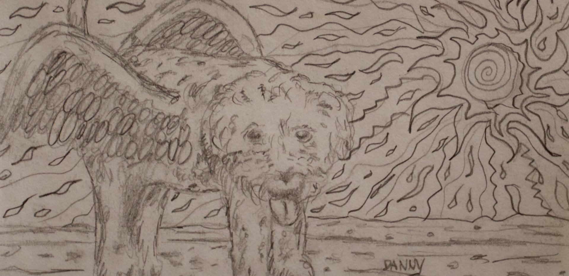 Best Friend. Pencil on Paper.