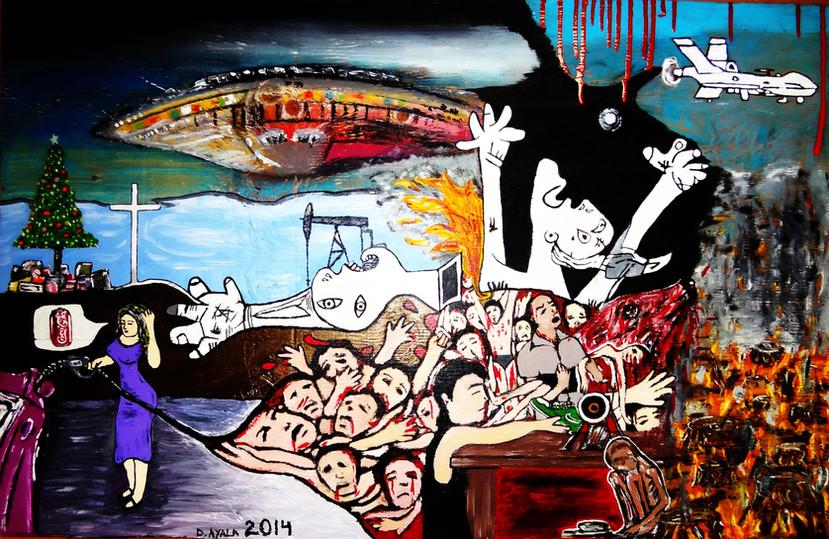 Nosotros, Ellos, La Humanidad 2014. Mixed Media on Canvas