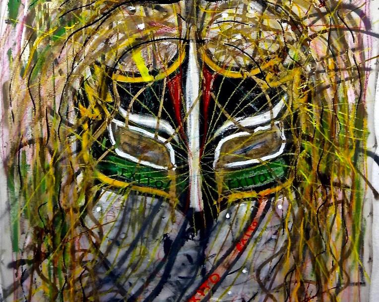 Mascara Sagrada. Mixed Media on Canvas.