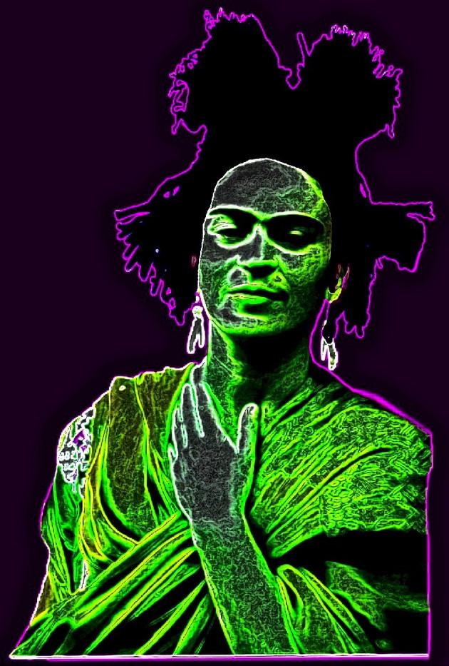 Frida Basquiat Digital Collage.