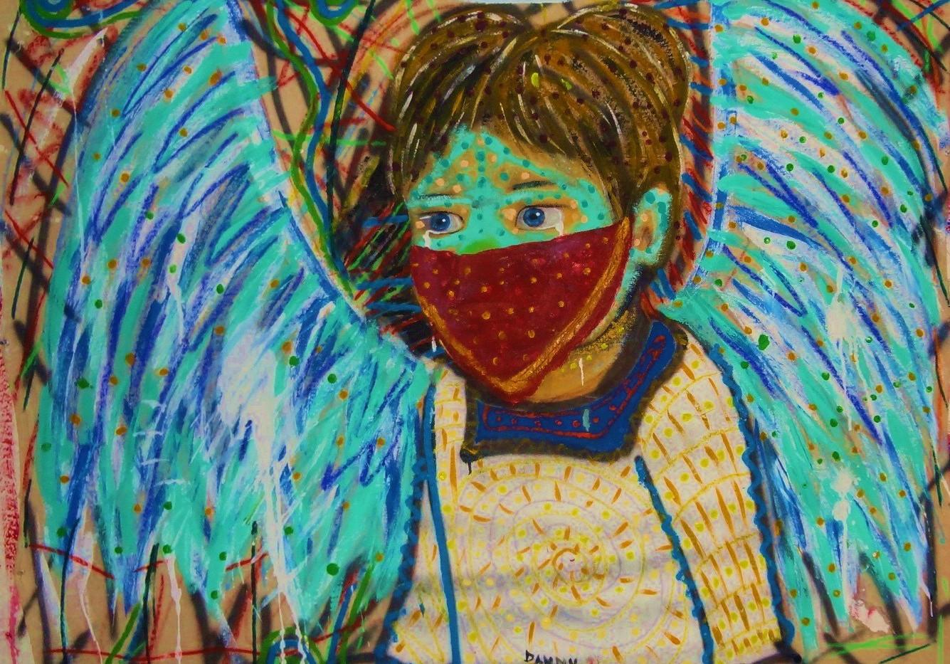 Baby Angel. Mixed Media on Canvas.