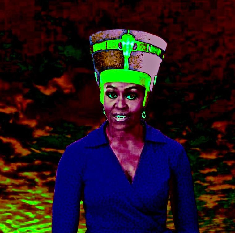 Queen Michelle Obama Digital Art.