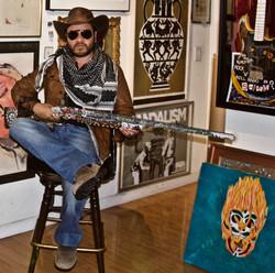 Painted shotgun