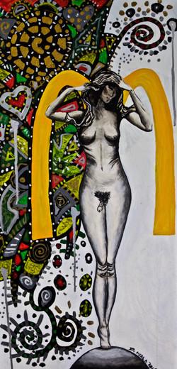 Hermafrodita. Mixed Media on Canvas