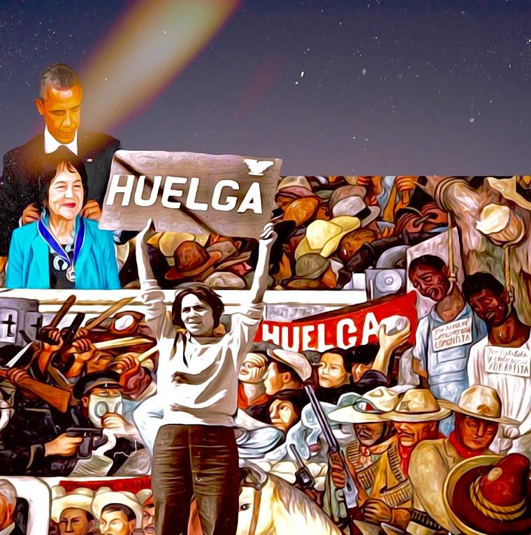 Dolores Huerta Tribute Digital Collage.