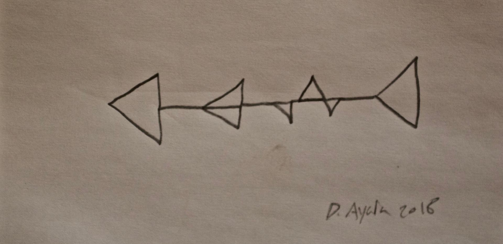 Shark Sketch. Pencil in Paper.