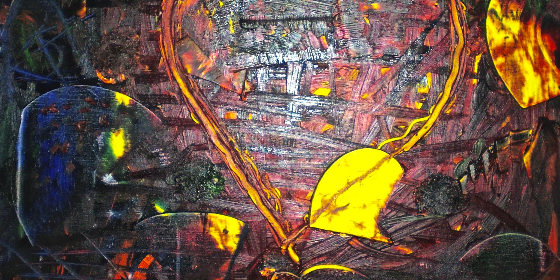 Love Expression 3. Mixed Media On Canvas.