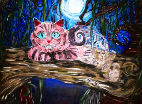 Gato de Cheshire. Acrylic on Canvas.j