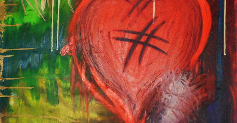 Love Expression. Mixed Media on Canvas.