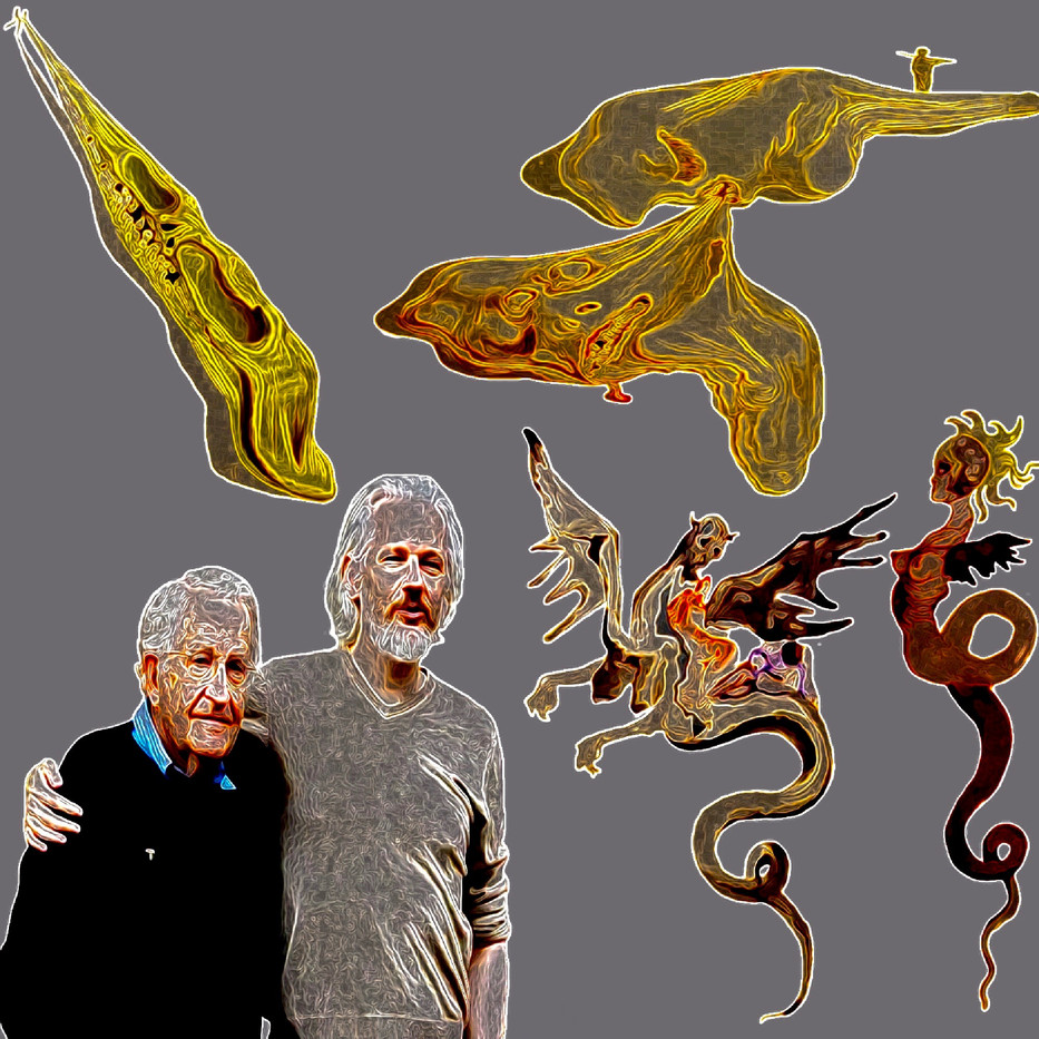 Friends Against Evils Digital Collage.