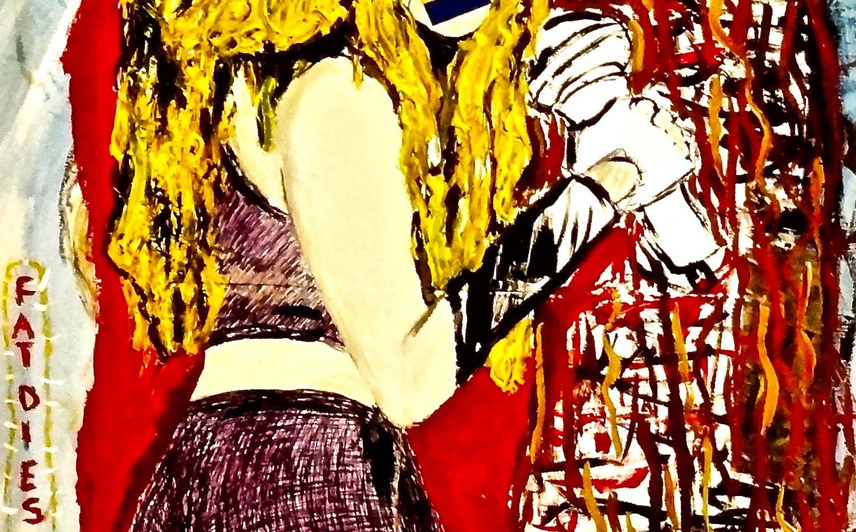 Shakira. Mixed Media on Canvas.