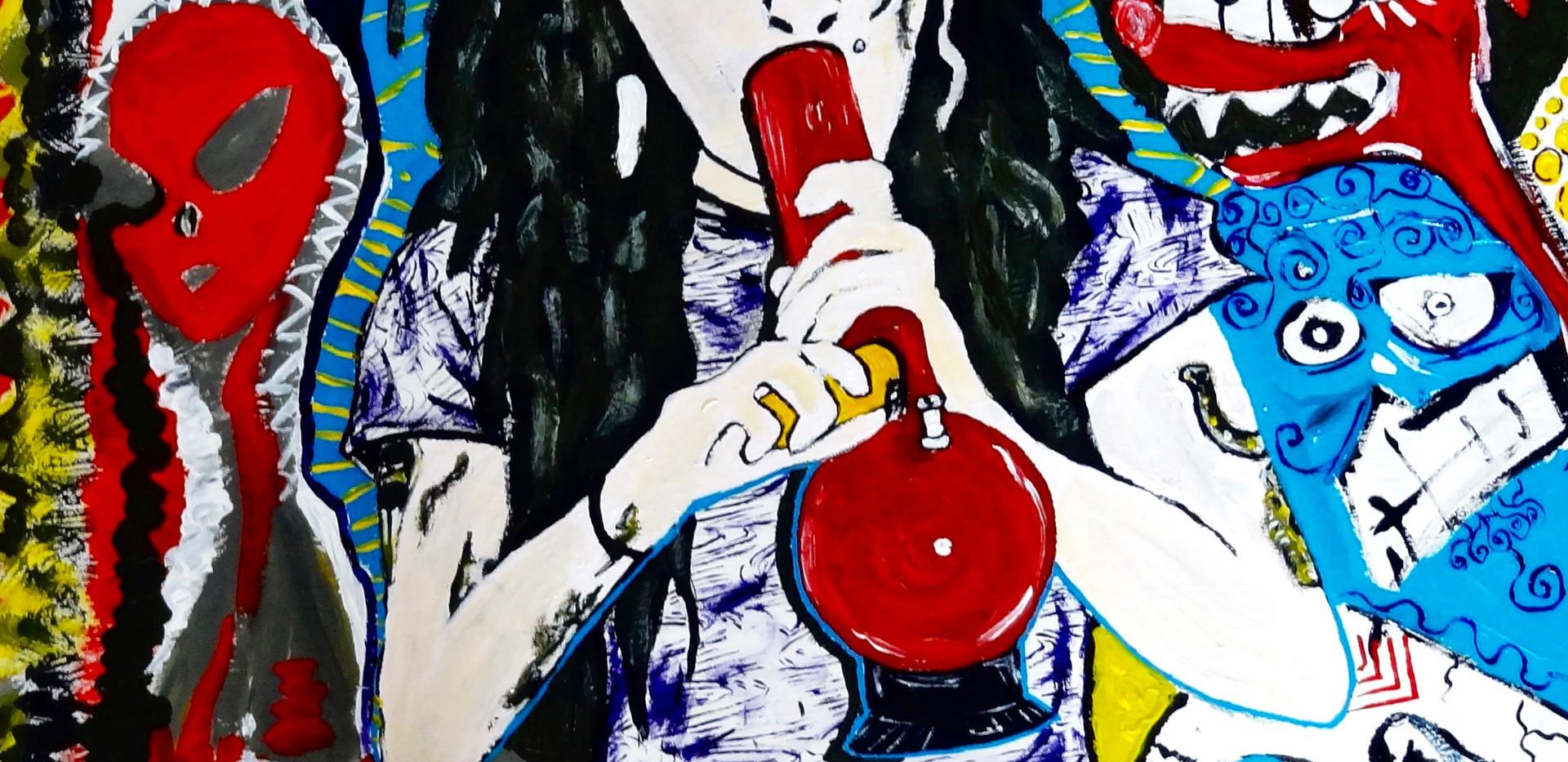 Amy Winehouse 2016. Acrylic on Wood.